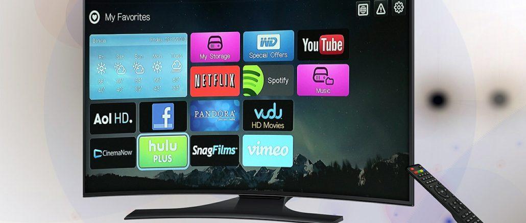 Neuer Curved TV mit Fernbedienung