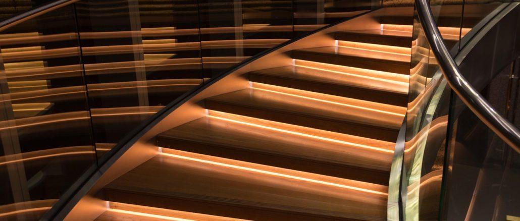 LED Treppenbeleuchtung im Einsatz